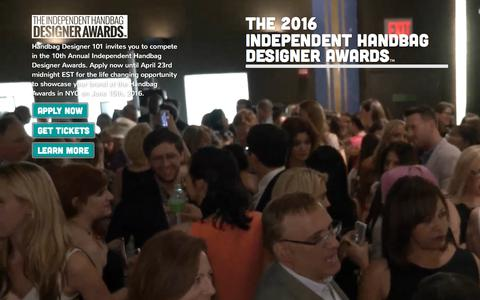 Screenshot of Home Page thehandbagawards.com - The Independent Handbag Designer Awards - captured Feb. 15, 2016
