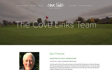 Screenshot of Team Page covelinks.com - Cove Links Team — Cove Links Golf Course - captured April 2, 2016