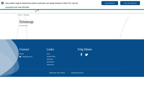 Screenshot of Site Map Page iskate.nl - Sitemap › iSkate - captured Aug. 7, 2016