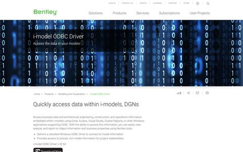 Free i-model ODBC Driver - Access DGN Data in Windows Apps