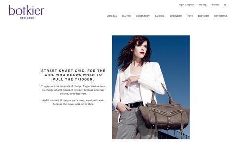 Screenshot of About Page botkier.com - The Innovative Handbag Designer: Monica Botkier | Botkier - captured Oct. 28, 2014
