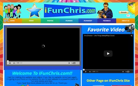 Screenshot of Home Page ifunchris.com - IFunChris.com - captured Sept. 17, 2015