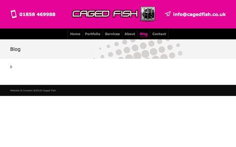 Screenshot of Blog cagedfish.co.uk - Blog – Web Design Leicester - captured July 15, 2018
