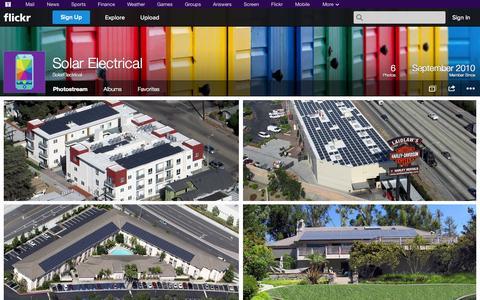 Screenshot of Flickr Page flickr.com - Flickr: SolarElectrical's Photostream - captured Oct. 26, 2014