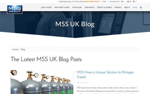Screenshot of Blog msslasers.com - Blog - MSS Lasers - captured Nov. 5, 2018
