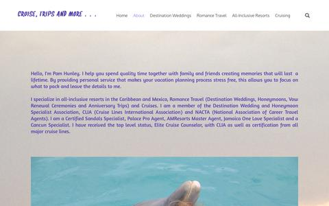 Screenshot of About Page cruisetripsandmore.com - About - CRUISE, TRIPS AND MORE ... - captured July 22, 2018