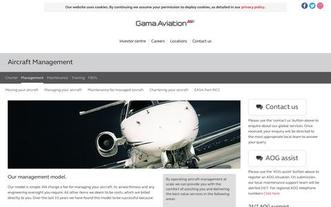 Screenshot of Team Page gamaaviation.com - Gama Aviation Aircraft Management - captured Oct. 24, 2016