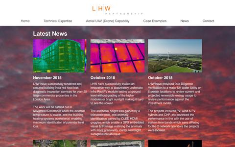 Screenshot of Press Page lhwp.co.uk - LHW Partnership LLP - Engineering Consultants - Renewable Energy & Energy Efficiency - News - captured Nov. 9, 2018