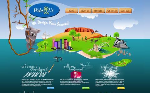 Screenshot of Home Page websrus.com.au - Webs R Us   Australia   Web Design   Hosting   Domain Name Registration   eCommerce   Magento   Graphic Design - captured Jan. 13, 2016