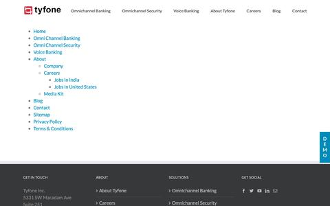 Screenshot of Site Map Page tyfone.com - Sitemap | Tyfone - captured Oct. 19, 2018