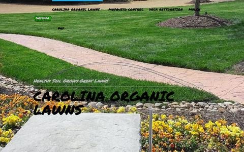 Screenshot of Home Page carolinaorganiclawns.com - Carolina Organic Lawns - captured June 17, 2015