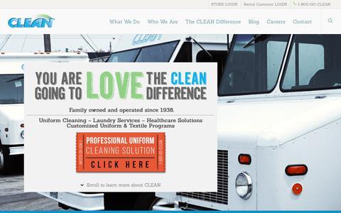 Screenshot of Home Page cleanuniform.com - Uniform Company,Industrial Laundry Program,Healthcare,Work Uniforms - captured Aug. 2, 2017