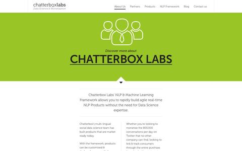 Screenshot of About Page chatterbox.co - About Us - Chatterbox Labs - captured June 16, 2015