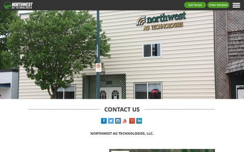 Screenshot of Contact Page nwagtech.com - Contact Northwest Ag Technologies - captured Oct. 22, 2017