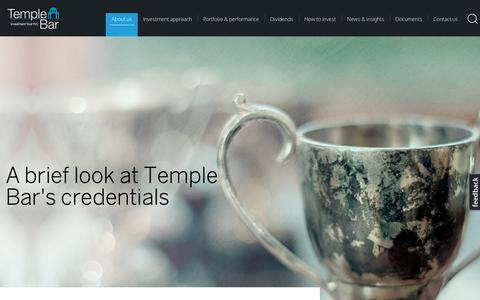 Screenshot of About Page templebarinvestments.co.uk - What We Do | Temple Bar - captured Oct. 26, 2018