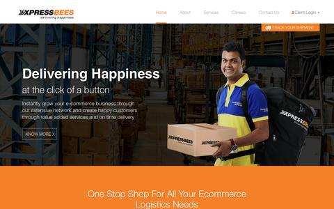 Screenshot of Home Page xpressbees.com - Xpressbees.com | E-Commerce Logistics Company India - captured Feb. 29, 2016