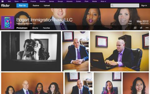 Screenshot of Flickr Page flickr.com - Flickr: Bogart Immigration Law, LLC's Photostream - captured Oct. 23, 2014