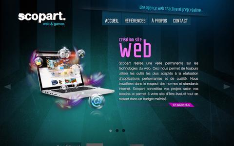 Screenshot of Home Page scopart.fr - Agence web à Clermont-Ferrand au coeur de l'Auvergne (Puy-de-dôme)   Scopart - captured Sept. 30, 2014