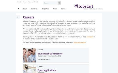 Screenshot of Jobs Page ttopstart.com - Careers - captured Oct. 24, 2017