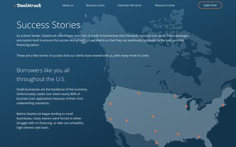 Screenshot of Case Studies Page dealstruck.com - Success Stories Of Our Clients | Dealstruck - captured Dec. 28, 2018