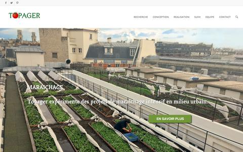 Screenshot of Home Page topager.com - Topager | Entreprise du Paysage Urbain Comestible et Sauvage - captured Oct. 20, 2018