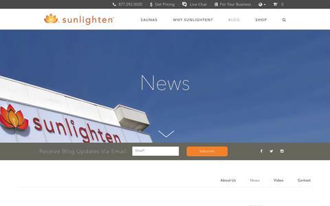 Screenshot of Press Page sunlighten.com - In the NewIn the News | Infrared Saunas | Sunlighten<s | Infrared Saunas | Sunlighten - captured Oct. 30, 2017