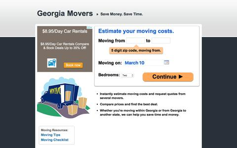 Screenshot of Home Page promovers.com - ProMovers.com - Professional Movers - captured Feb. 12, 2018