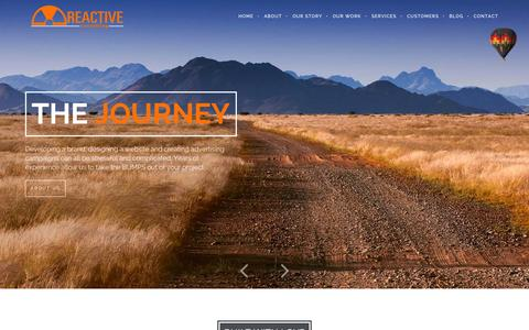 Screenshot of Home Page About Page Services Page reactiveconsulting.com - Reactive Consulting - World Class Web Design in Albuquerque, NM | Specializing in Creative Brand Development and Top Notch Customer Service. - captured Sept. 26, 2014