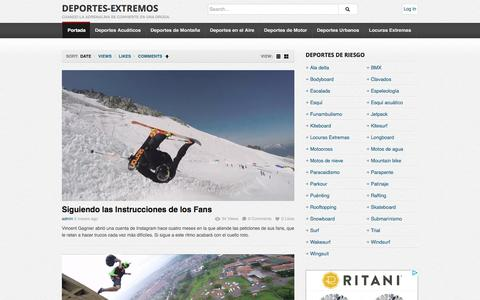 Screenshot of Home Page deportes-extremos.net - Deportes-Extremos   Cuando la adrenalina se convierte en una droga. - captured June 6, 2016