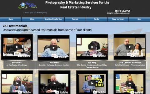 Screenshot of Testimonials Page virtualaccesstours.com - Virtual Tours - New Jersey | Video Testimonials - captured Oct. 18, 2018