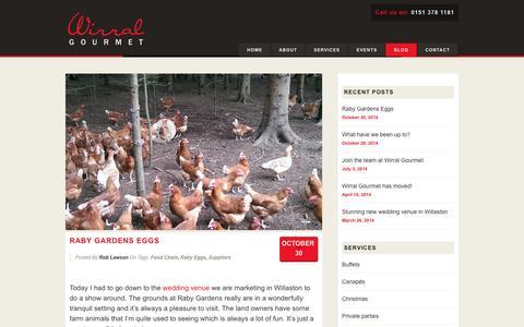 Screenshot of Blog wirralgourmet.com - Wirral Gourmet » Blog - captured Jan. 11, 2016
