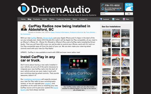 Screenshot of Blog drivenaudio.ca - Driven Audio Blog - Car Audio, Car Alarms, Marine Audio, Abbotsford BC - captured Oct. 6, 2014