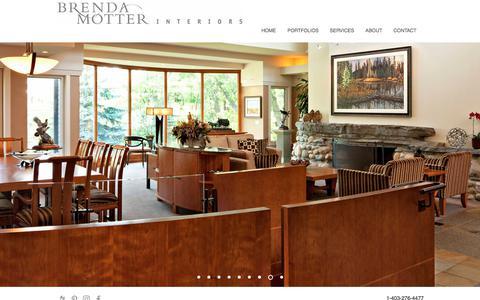 Screenshot of Home Page brendamotter.com - Interior Design Services | Calgary, Alberta - Brenda Motter Interiors - captured Oct. 11, 2017