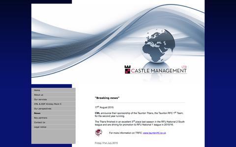 Screenshot of Press Page castlemanagement.co.uk - Castle management ltd - News - captured July 17, 2017