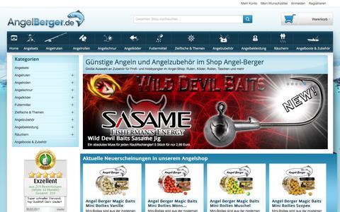 Screenshot of Home Page angel-berger.de - Viele günstige Angeln im Shop von Angel-Berger im Angebot - captured March 31, 2017