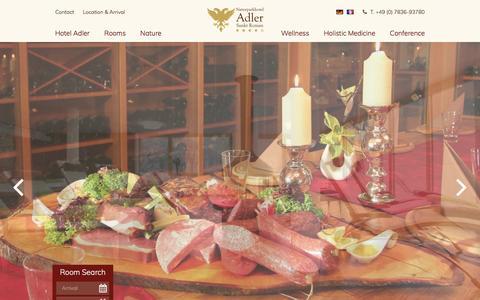Screenshot of Press Page naturparkhotel-adler.de - Press - Contact - Hotel Adler St. Roman - captured April 2, 2017