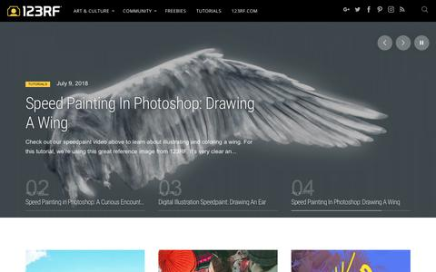 Screenshot of Blog 123rf.com - Creative Inspiration and Stock Content Resource Blog - 123RF - captured July 14, 2018