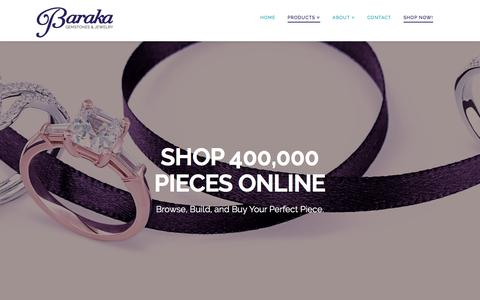 Screenshot of Products Page barakagems.com - Online Extended Inventory | Baraka Gemstones & Jewelry - captured Nov. 22, 2016