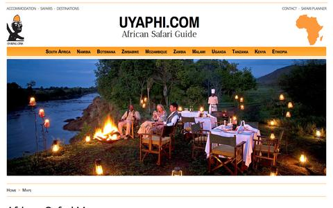 Screenshot of Maps & Directions Page uyaphi.com - African Safari Map, Africa Travel Map - captured June 25, 2017