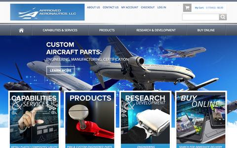 Screenshot of Home Page approvedaeronautics.com - Approved Aeronautics -  Provides high quality aircraft parts with low prices and on time delivery - captured June 18, 2015