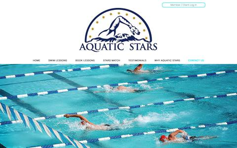 Screenshot of Contact Page aquaticstars.com - aquatic-stars | CONTACT US - captured Nov. 12, 2018