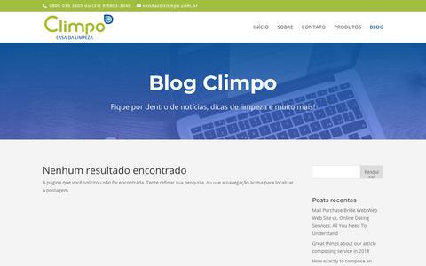 Screenshot of Blog climpo.com.br - Blog | Climpo - captured Oct. 22, 2018