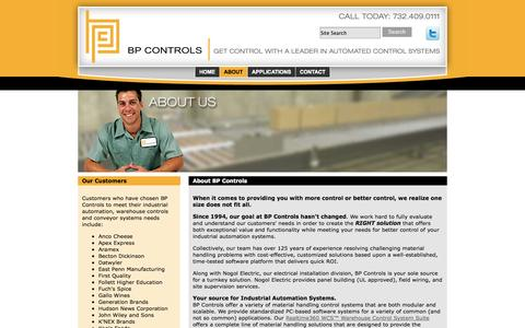 Screenshot of About Page bpcontrols.com - About BP Controls, Industrial Automation Systems Areas of Expertise - captured Oct. 4, 2014