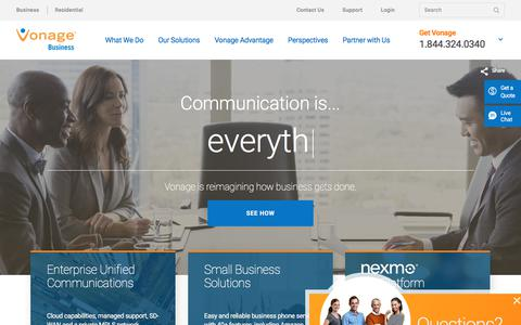 Unified Communications & Business Phone Service | Vonage Business