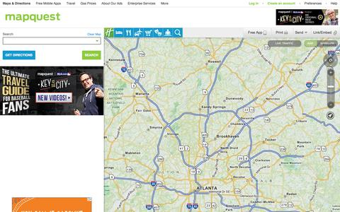 Screenshot of Home Page Maps & Directions Page mapquest.com - MapQuest Maps - Driving Directions - Map - captured Sept. 19, 2014