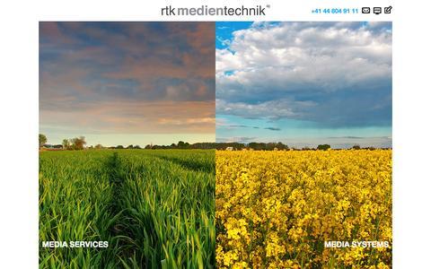 Screenshot of Home Page rtk.ch - RTK Medientechnik AG - Media Services & Media Systems - captured Oct. 8, 2014