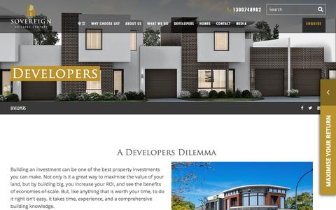 Screenshot of Developers Page sovereignbuilding.com.au - Developers - Sovereign Building Company - captured Oct. 23, 2017