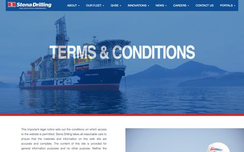 Screenshot of Terms Page stena-drilling.com - Terms And Conditions - Stena Drilling - captured Oct. 18, 2018