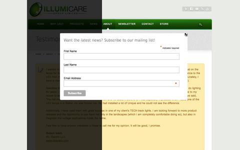 Screenshot of Testimonials Page illumicaregroup.com - Testimonials - captured Oct. 6, 2014