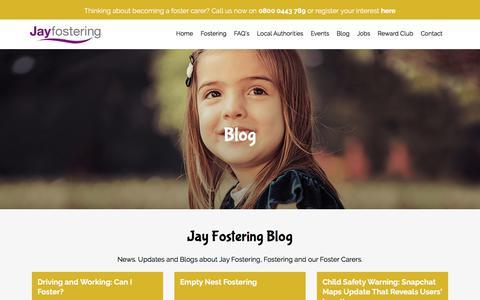 Screenshot of Blog jayfostering.com - Updates // Jay Fostering - captured Oct. 16, 2017
